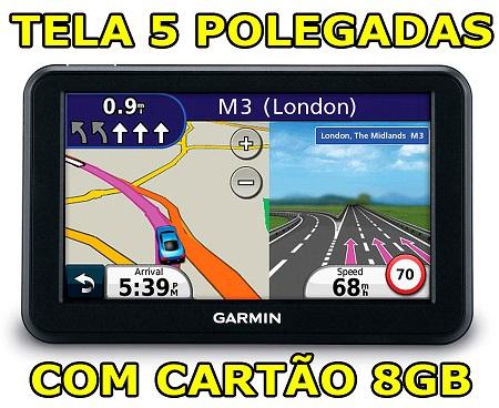Gps Garmin Nuvi 50 Tela 5 Radares Brasil Dual Core + 8gb  - HARDFAST INFORMÁTICA