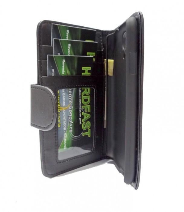 Capa Carteira Galaxy S4 I9500 Couro Pu Samsung Black Clip Br  - HARDFAST INFORMÁTICA