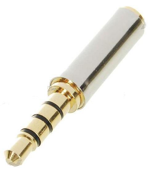 Adaptador Plug Cabo Som P2 Macho X P1 Femea (3.5mm X 2.5 mm)  - HARDFAST INFORMÁTICA