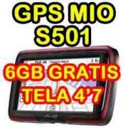 Gps Mio Moov S501 tela 4,7 pacote Full
