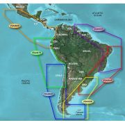 Mapa Garmin Carta nautica G2 Bluechart 3D Americal do Sul