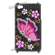 Capa Case Iphone 4 4s butterfly Borboleta Shining Apple Bag