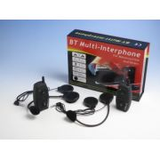 Intercomunicador Bluetooth Moto Capacete Kit 2x par Gps mp3