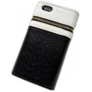 Capa Carteira Iphone 5 5s couro Ziper Dinheiro Frete Grátis