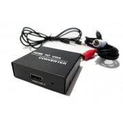 Conversor HDMI para VGA com Audio Som Ps3 Xbox Computador