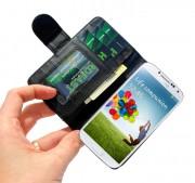 Capa Carteira Galaxy S4 I9500 Couro Pu Samsung Black Clip Br