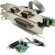 Placa Pci-e Express x1 Paralela e 2x Serial Impressora LPT1