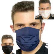 2x Mascaras tecido Camada Dupla Lavável Higiênica Antialérgica não Descartável Favix