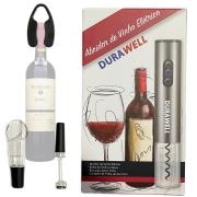 Abridor elétrico vinho Saca Rolha Inox Kit acessórios e caixa Presente