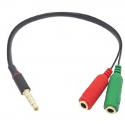 Adaptador Cabo P3 Macho Para 2x P2 Audio Microfone Stereo Headset Notebook