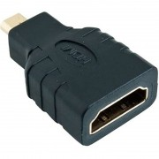 Adaptador Micro HDMI x HDMI Fêmea 4k Full Hd Audio Video Stereo