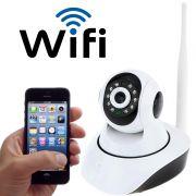 Camera Ip Wifi Hd 720P Alarme Entrada Cartão Sem Fio Iq Cut Ip03k Rj45 Celular Segurança