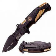 Canivete Faca Tático Mtech Gold Mt-a944 Militar Cinto Pesca Camping
