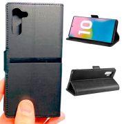 Capa Carteira Galaxy Note 10 Porta Cartões Doc + Película