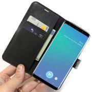 Capa Carteira Galaxy S9 Ou S9 Plus S9+ Capinha Película Gel Cortesia Luxo