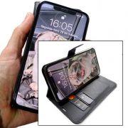 Capinha carteira Iphone 11 Pro + Pelicula Gel Kit limpeza Wlxy Capinha