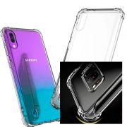 Capinha Silicone Samsung A10 Anti-choque + Pelicula Gel Wlxy