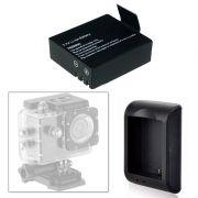 Carregador e Bateria Camera Sports Cam Sj4000 Universal Tj4000 Wifi X4000 Sj5000 A8