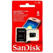 Cartão Memoria Micro Sd 8Gb C/ Adaptador Original Box Classe 4
