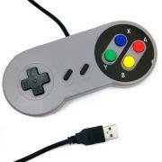 Controle Super Nintendo Snes Usb Pc Emulador Famicon Raspbery