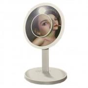 Espelho HD Iluminador Maquiagem Touch Led Imã + Lente Ampliador 7x Wlxy-AF802