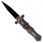 Faca Canivete Punhal Templário A Cruz e Espada Adaga Medieval Castelo com Fio aço inoxidável