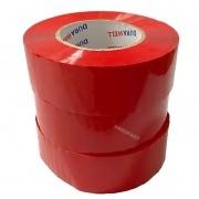 Fita Adesiva 20x Rolos de 200 metros Vermelha Caixa Fechada Alta qualidade