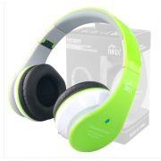 Fone Ouvido Favix B01 Headset Sem Fio FM Sd Card Verde Stereo