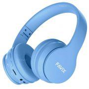 Fone Ouvido Favix B01 Pro Headset Sem Fio SuperBass Radio Fm Entrada Cartão Auxilar Bluetooth Azul
