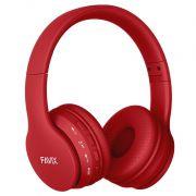 Fone Ouvido Favix B01 Pro Headset Sem Fio SuperBass Radio Fm Entrada Cartão Auxilar Bluetooth Vermelho