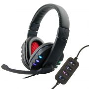 Fone Ouvido Headset 7.1 Stereo Microfone USB Controle Volume Pc Notebook Xbox Playstation B10