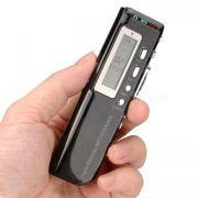 Gravador De Voz Digital 8Gb Memória Espião Pequeno Discreto Escuta