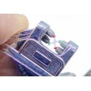 Isqueiro Laser Plasma Recarregável Elétrico Cromado Bateria Favix