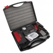 Jump Starter Carregador Bateria Auxilar Carro Moto + Compressor AR Celular Barco Jetski Powerbank