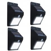 Kit 4 Sensores Luz Led Carregador Sorlar Balizador Presença Arandela Energia