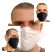 Kit Com 5 Máscaras Reutilizáveis Duas Camadas Lavável Antialérgico Premium