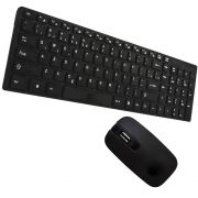 Kit Teclado e Mouse Sem fio Wifi Usb 1600Dpi 2.4Ghz Smart PC