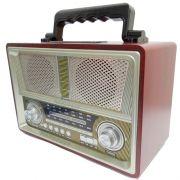 Micro System Amplificado Vintage Antigo Retro Fm Am Usb mp3 Caixa Som Forte 80w Pmpo