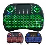 Mini teclado e mouse wireless Sem fio Wifi Usb Kit Wifi Com Led 2.4 Ghz