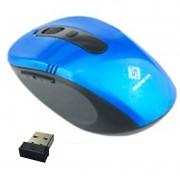 Mouse Sem Fio Wifi Usb 1600dpi Optico 3d Qualidade Cor Azul