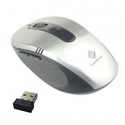 Mouse Sem Fio Wifi Usb 1600dpi Optico 3d Qualidade Cor Prata