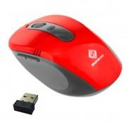 Mouse Sem Fio Wifi Usb 1600dpi Optico 3d Qualidade Cor Vermelho