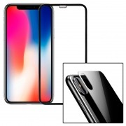 Película 3d Iphone X 10 Tela Inteira Borda Frontal Traseira Kit 2x frente e tras