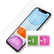 Pelicula Gel iPhone 11 / Pro / Max HidroGel Silicone Clear Wlxy + Kit Limpeza