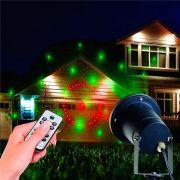 Projetor Laser Espeto Jardim Natal Prova Agua Com Controle hw-02 Arvore