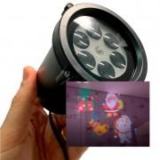 Projetor LED Natal Prova Agua desenho Papai noel boneco Neve Presente