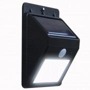 Sensor Luz Led Carregador Solar Presença Arandela Balizador Parede Movimento