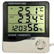 Sensor Termometro Digital Umidade Hidrômetro Relogio Sonda