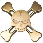 Spinner Caveira Metal Skull Gira Muito Pirata Toy rolamento ABEC12