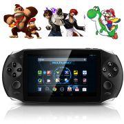 Tablet Gamer Jogos Android Wifi tela 5.0 Dual Core 8GB HDMI Super Mario Emuladores Super Nintendo Mega Drive